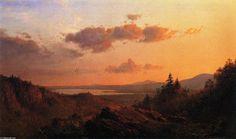 Vue sur le fleuve Hudson à partir de Olana, huile sur toile de Frederic Edwin Church (1826-1900, United States)