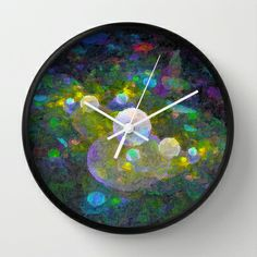 Painted Bubbles Wall Clock by Awesome Palette - $30.00