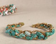 Bracelet Wired with Turquoise ... Copper Jewelry