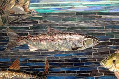 Deatils of mosaic mural by Carl and Sandra Bryant at Nelson Elementary School in Graham, WA