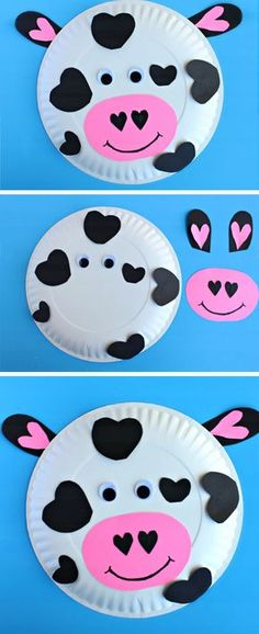 Paper Plate Heart Cow | DIY Valentines Day Crafts for Kids to Make | Easy Valentine Crafts for Toddlers to Make