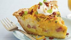 Serve your family with this bacon topped potato quiche that's made with ham and Original Bisquick® mix – a tasty dinner.