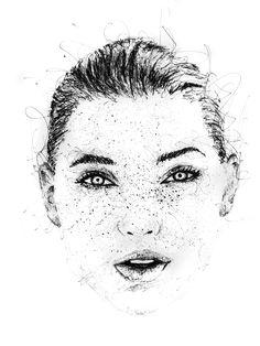 Elsa Hosk portrait by Gus Romano artwork scribble painting Victoria Secret black and whit art @iamgusromano #scribble #doodle #sketch #sketchbook #pencil #portrait #blackandwhite #illustration #art #artwork #model #artist #graphic #design #designer #style #lifestyle #picture #fashion