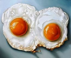 hyper realistic food painting by Tjalf Sparnaay