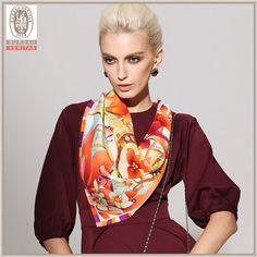 Swallow design twill silk scarf 90x90 women's neckwear BAOSHIDI 1031140312