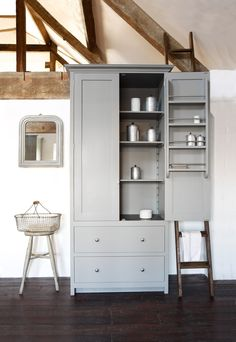 The Loft Kitchen | deVOL Kitchens. inner door shelves, nice.