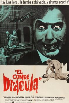 Count Dracula (1970) Original Argentine Movie Poster