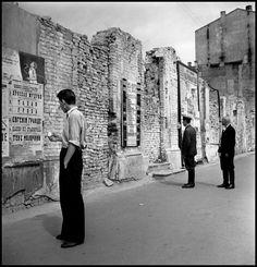 Robert Capa - Kiev. 1947. Street scene.                                                                                                                                                                                 More