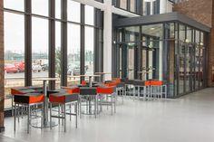 North Lanarkshire Schools & Centres 21 St Ambrose, Dining Area, Centre, High School, Schools, Spaces, Furniture, Home Decor, Decoration Home