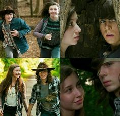 Enid and Carl. THE WAY SHE LOOKS AT HIM IS LIKE HE IS THE ONLY GOOD IN THE WORLD