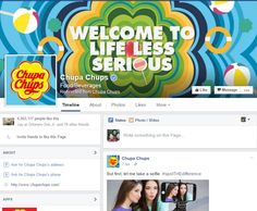 Chupa chups has its own facebook page wherein they are doing an update anytime of the day.