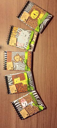 Bloquinhos de lembrancinhas para um aniversário com tema Safari! By Ligia
