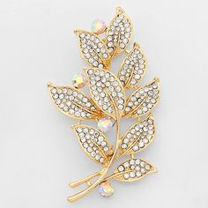 Crystal Folio Brooch