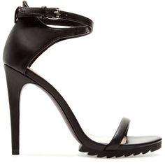 Zara Ankle Strap Sandal ($50) ❤ liked on Polyvore