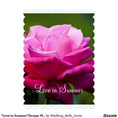 """Love in Summer""Design Wedding Invitation"