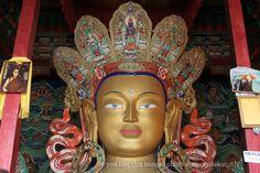 Ladakh, Maitreya Buddha in Thiksey monastery