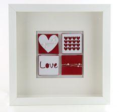 Wohndekoration - Herz Dekoration Bild rot love - ein Designerstück von schoenes-von-Herzen bei DaWanda