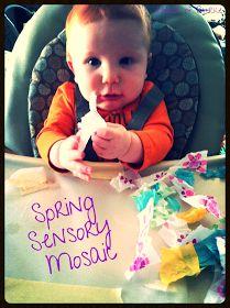 House of Burke: Sensory Saturday - Spring Mosaic