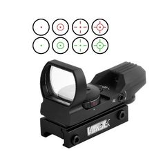 Vokul Tactical 4 Reticle Red Dot Open Reflex Sight with Weaver-Picatinny Rail Mount for 22 mm Rails, 2016 Amazon Top Rated Binoculars & Scopes  #Electronics