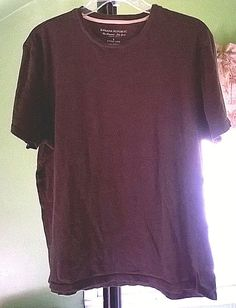 Bananna Republic Large Fitted Crew 100% Cotton Short Sleeve T-Shirt Brown   BananaRepublic 221313f9d
