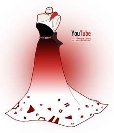 Les robes de soirée pour geek : #YouTube