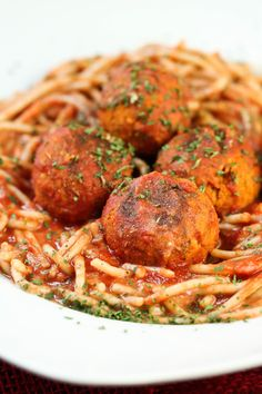 Classic Spaghetti and Meatballs gets a vegan makeover with these amazing Italian dried herb infused veggie balls. Made with chickpeas and couscous for amazing texture. These are loaded with flavor and spice and will leave you feeling wonderfully satisfied.