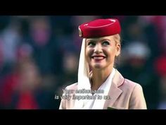 """Emirates - Crew Demonstrates """"Safety Video"""" on Football Field - THEINSPIRATION.COM"""