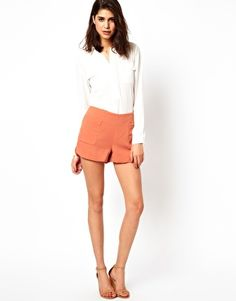 Selected Ellinor Retro Shorts with Pockets
