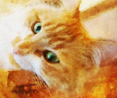 Oilpainting from your photo - special gift for your family! Portrait of a cat