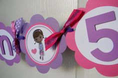 Doc McStuffins Birthday Party Name and Age by sweetheartpartyshop, $24.00