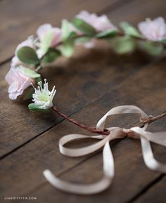 Make a DIY crepe paper flower head wreath for your flower girl! Love this!