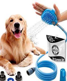Wantedstuff 3 in 1 Pet Shower Kit with FREE Dental Finger Brush Dog Breeds Little, Big Dog Breeds, Therapy Dog Training, Therapy Dogs, Shower Kits, Dog Shower, Dog House Air Conditioner, Beautiful Dog Breeds, Free Dental