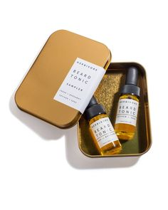 Gift Set of 2 Beard Tonics. These highly nourishing oil based beard tonics combine natural plant oils that promote a healthier looking beard while moisturizing the skin beneath. These include light, n
