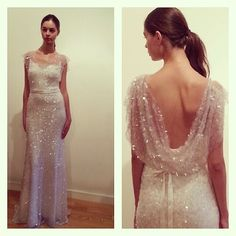 Sequinned wedding dress by @annebowencollection. Perfect for the retro bride #bridalmarket