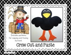 This is a crow cut and paste project that includes all the necessary templates for xeroxing. Just copy onto construction paper! $   Each download PDF includes: 1. An illustrated picture of the project 2. Directions 3. Patterns that can be copied directly onto colored construction paper and then cut out by students. 4.