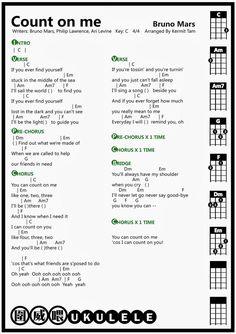 圍威喂 ukulele: Bruno Mars Count On Me [ukulele chord]