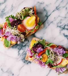 Salad Crispbreads with Roasted Squash Cream - fancy-edibles.com (I do not hate that marble either)