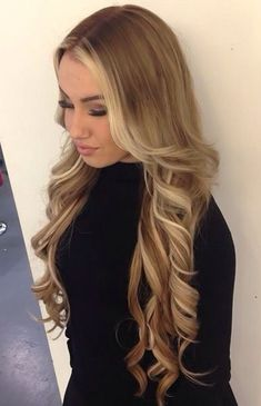 "Affordable luxury 100% virgin hair starting at $65/bundle in the USA. Achieve this look with our luxury line of Peruvian Body Wave Blonde #613 hair extensions, available in lengths 12"" - 26"". www.vipextensionbar.com email info@vipextensionbar.com"
