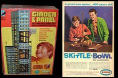 Girder & Panel by Kenner. Skittle Bowl by Aurora. The best combo gift ever once you realize how great of a wrecking ball the Skittle Bowl can be.