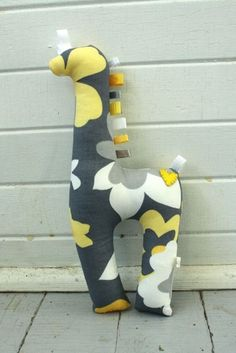 Giraffe Stuffed Animal. I made this for Peytons birthday party in orange and yellow