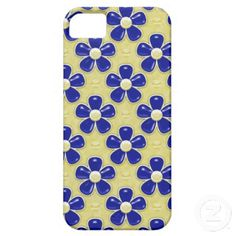 Girly Cute Navy Blue Flowers iPhone 5 Case by Graphic Allusions $44.95 #iphone5