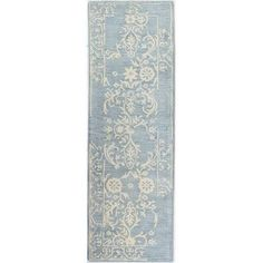 "One Allium Way Coeur d'Alene Hand-Tufted Light Blue Area Rug Rug Size: Runner 2'6"" x 8'"