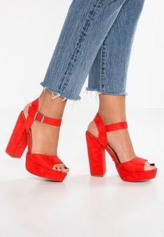 Chaussures dentelle, les chaussures tête de poisson à l'arc dames sexy talons hauts, rouge 39