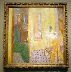 Interior at Le Cannet by Pierre Bonnard. Pierre Bonnard, Paul Gauguin, Henri Matisse, Maurice Denis, Edouard Vuillard, Vincent Van Gogh, Illustrations, Japanese Art, Painting & Drawing
