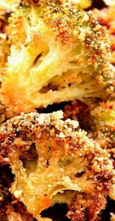 The best broccoli ever! Perfectly roasted broccoli with crunchy garlic parmesan coating.