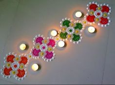 Easy and Creative Border Rangoli Designs Using Bangles - YouTube