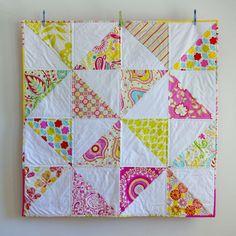 Modern Baby Quilt :: HST Pinwheel :: Kumari Garden