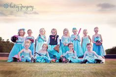 These Little Softball Players Look Adorably Tough in  Frozen -Inspired Team Photo  Freeze, Girls Softball Team