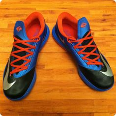 KD 5 Womens Black Game Royal Team Orange 554988 046