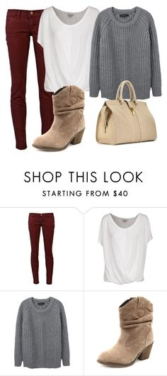 """""""Sin título #60"""" by yasmin1994 ❤ liked on Polyvore featuring Current/Elliott, Joie, rag & bone, Charlotte Russe and Yves Saint Laurent"""